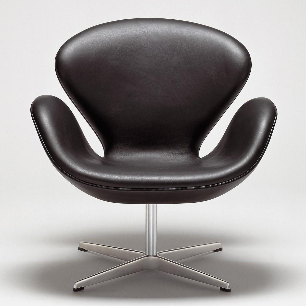 Swan chair sessel leder fritz hansen ambientedirect com