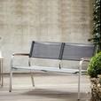 Jan Kurtz - Lux XL Loungebank 2-Sitzer - schwarz/Gestell Edelstahl/Batyline