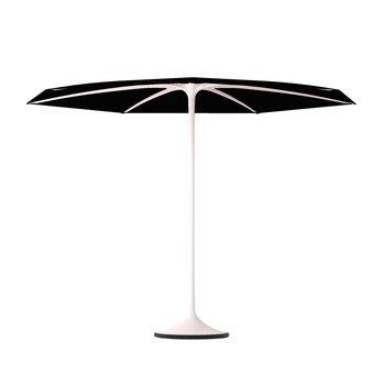 Royal Botania - Palma - Parasol avec base Ø 300cm - noir/H: 225cm x Ø 300cm/structure aluminium blanc