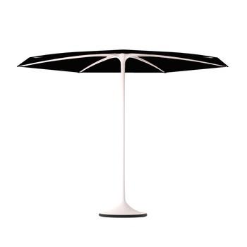 - Palma Sonnenschirm mit Fuß  Ø 300cm - schwarz/Gestell aluminium weiß/Fuß Ø 70cm