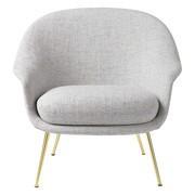 Gubi - Bat Lounge Chair niedrig Gestell Messing