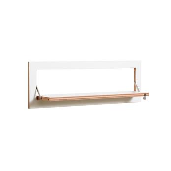 AMBIVALENZ - Fläpps Regal 80x27 - weiß/Kante Holz/lackiert/B x H x T: 80 x 27 x 20cm