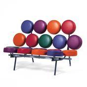 Vitra - Marshmallow Sofa - multicolor/Gestell schwarz