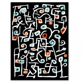 Vondom - Las Flores Outdoor Teppich - schwarz/weiß/rot/grün/200x270cm