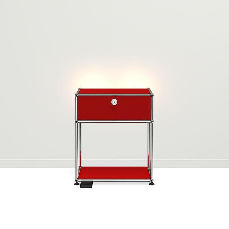 usm haller e nachttisch mit dimmbarem licht ambientedirect. Black Bedroom Furniture Sets. Home Design Ideas