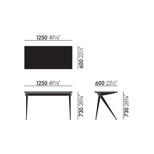 Vitra - Compas Direction Tisch - Strichzeichnung