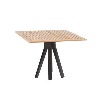Kettal - Vieques Garden table 90x90cm - black/teak/table top teak/LxWxH 90x90x74cm/aluminium frame 726 manganese