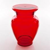 Kartell - La Boheme 3 Hocker / Beistelltisch - rot/Polymethylmethacrylat