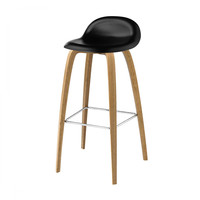 Gubi - Gubi 3D Bar Stool - Taburete de bar de roble
