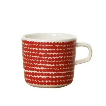 Marimekko - Räsymatto Becher 200ml - rot/weiß/Ø x H: 7.5 x 7cm