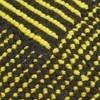 Tom Dixon - Stripe Teppich rund - schwarz-gelb/Ø 200cm