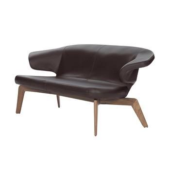 ClassiCon - Munich Sofa - Leder chocolate/Gestell nuss/163x77cm