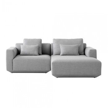 &tradition Develius 2-Seater Sofa with Chaise Longue   AmbienteDirect