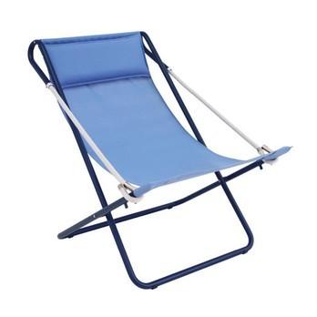 emu - Vetta Liegestuhl - marine blau/dunkelblau/Sitzfläche EMU-Tex marine blau/synthetisches Seil hellgrau/Gestell Stahl dunkelblau/klappbar
