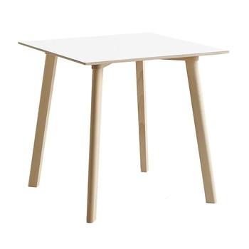 - Copenhague Deux CPH 210 Tisch 75x75cm - perlweiß/Laminat/Gestell Buche unbehandelt/H 73cm