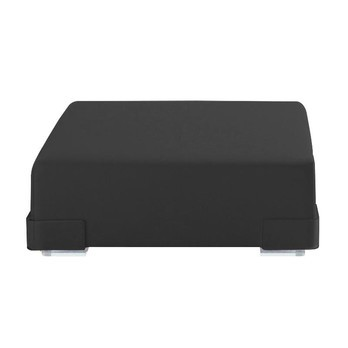 Kartell - Plastics Pouf - schwarz/Polycarbonat