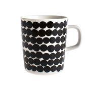 Marimekko - Oiva - Tasse à café - noir et blanc/Motif: Siirtolapuutarha/2dl