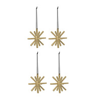 ferm LIVING - Winterland Brass Ornament 4er-Set
