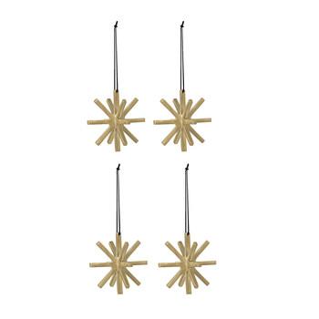 - Winterland Brass Ornament 4er-Set 4x 24199 - messing/Ø 5cm