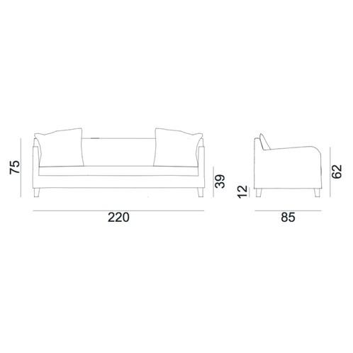 Gervasoni - Next 12 P Sofa - Strichzeichnung