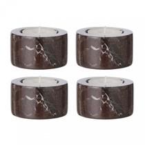 ferm LIVING - Marble Teelichthalter 4er Set