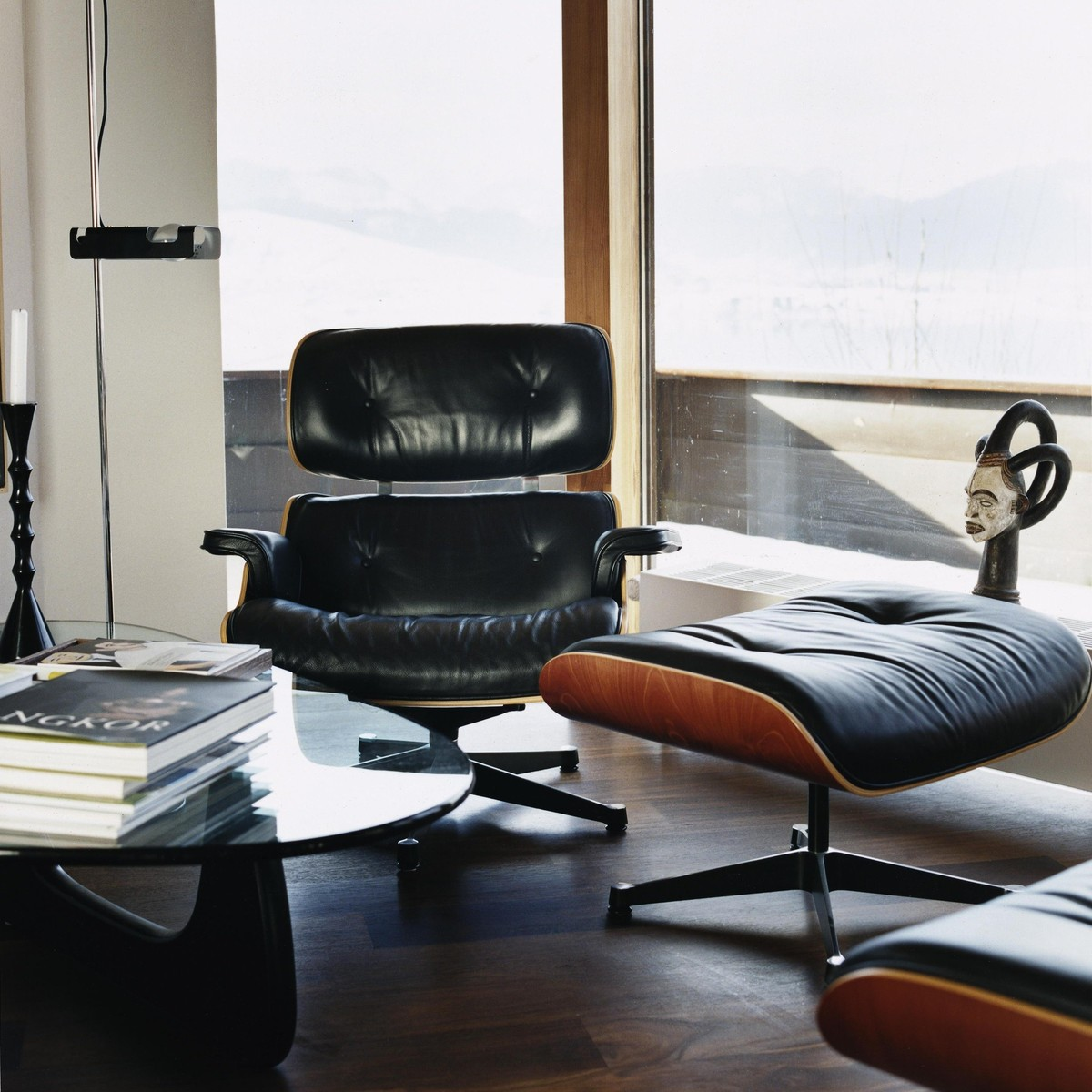 Eames lounge chair in room - Vitra Eames Lounge Chair Set Ltr Gratis