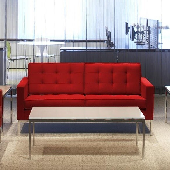 knoll international florence knoll 2 seater sofa. Black Bedroom Furniture Sets. Home Design Ideas