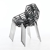 Magis - Chair One 4er Set - anthrazit/Beine Aluminium eloxiert/für den Außen- und Innenbereich