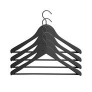 HAY - Soft Coat Kleiderbügel-Set breit - schwarz/4 Stück/44x27x4cm