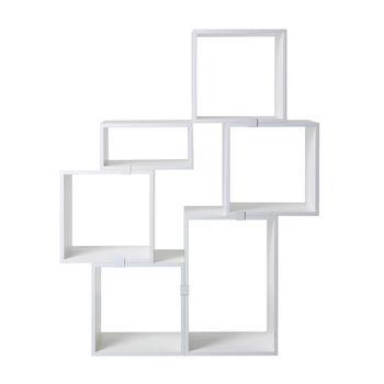 Muuto - Stacked Regalsystem Set 3 - weiß/MDF lackiert/Holz/Modell 3 (siehe Abbildung)/1xklein+4xmittel+1xgroß