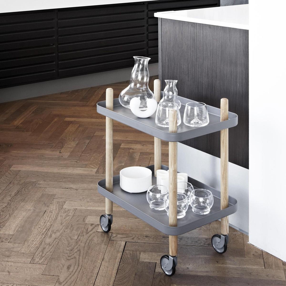 block beistelltisch servierwagen normann. Black Bedroom Furniture Sets. Home Design Ideas