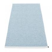 pappelina - Mono Teppich 85x160cm - ice blue/misty blue