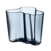 iittala - Alvar Aalto Vase 95mm - regenblau/Glas/mundgeblasen