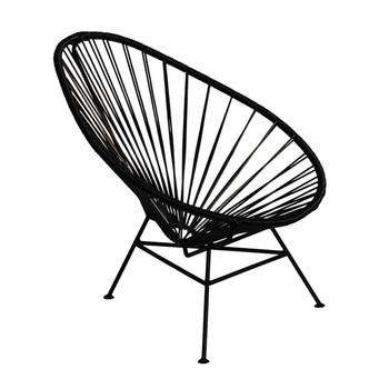 OK Design - Acapulco Mini Chair Armlehnstuhl - schwarz/Gestell schwarz