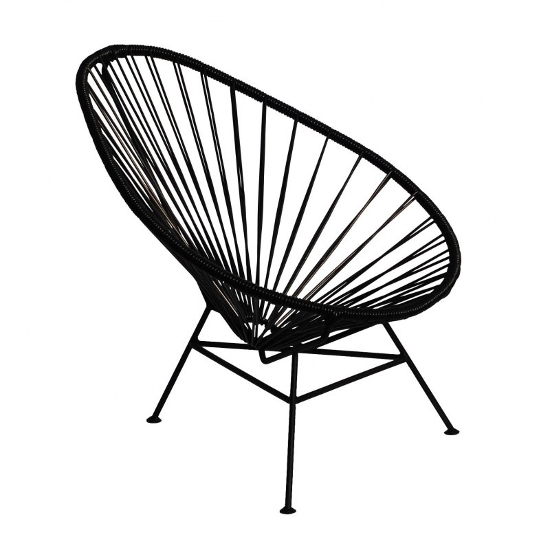 Ok design acapulco mini chair armlehnstuhl schwarz gestell schwarz