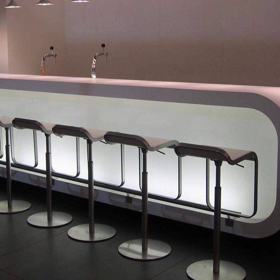 lem 66 79 barhocker gestell chrom matt la palma lem. Black Bedroom Furniture Sets. Home Design Ideas