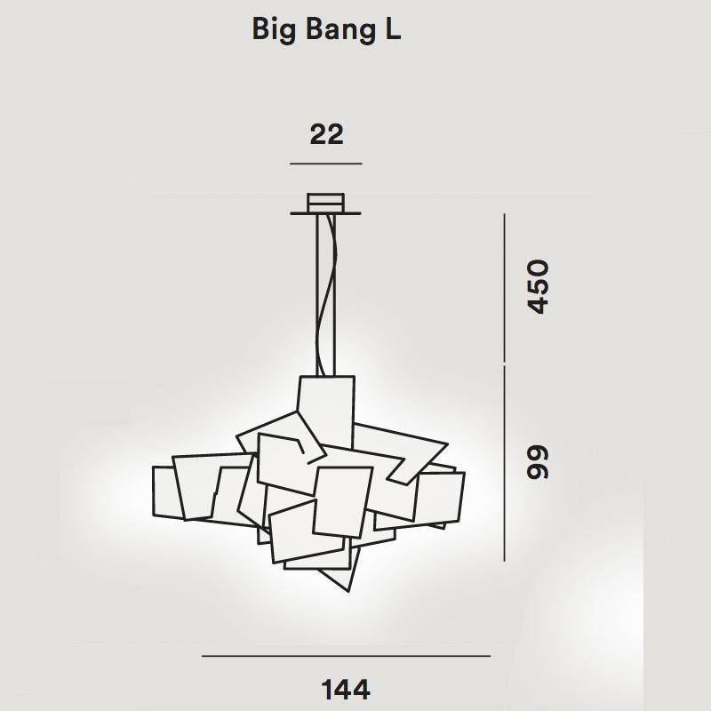 big bang l led suspension lamp foscarini. Black Bedroom Furniture Sets. Home Design Ideas