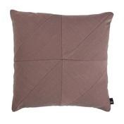 HAY - Puzzle Cushion Pure Sofakissen 50x50cm - bark altrosa/Stoff Steelcut Trio 645