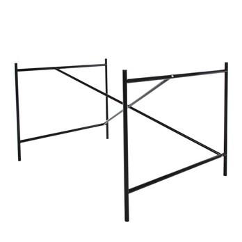 Richard Lampert - Eiermann 1 Tischgestell exzentrisch - schwarz/inkl. Höhenversteller 3,5cm/exzentrisch/110 x 66 x 78cm