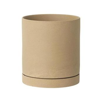 ferm LIVING - ferm LIVING Sekki Pot Blumentopf L - Curry/H: 17,7cm x Ø: 15,7cm