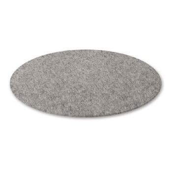 Hey-Sign - Bigdot Filzteppich Ø 120cm - hellmeliert grau/Filz/rund
