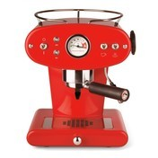 Illy - X1 Ground Espressomaschine - rot/Metall/inkl. 1 Dose (250g) gemahlenem Kaffee