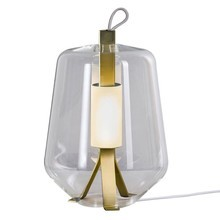 Prandina - Luisa T3 LED Table Lamp Brass Base