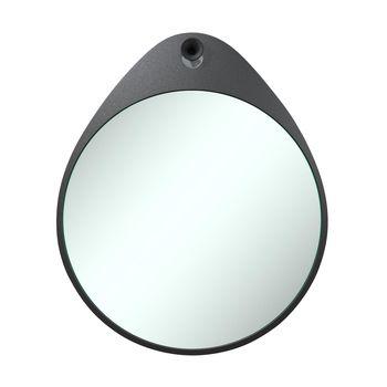 RiZZ - The Egg Wandspiegel - anthrazit/matt/MDF mit Beschichtung
