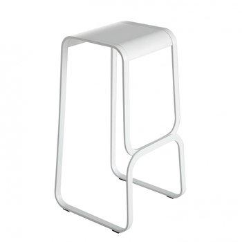 la palma - Continuum Barhocker 80cm - weiß/Leder/Gestell weiß