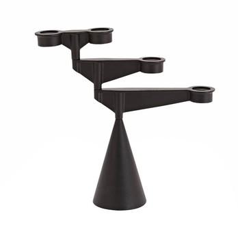 Tom Dixon - Spin Candelabra Mini Kerzenhalter - schwarz/BxHxT 37,7x38,5x11,9cm