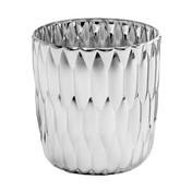 Kartell - Jelly Metallic Vase - chrom/glänzend/Ø23.5cm/H 25cm