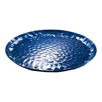 Alessi - Joy Tablett  - blau/lackiert mit Emaille-eEffekt/Ø 40cm