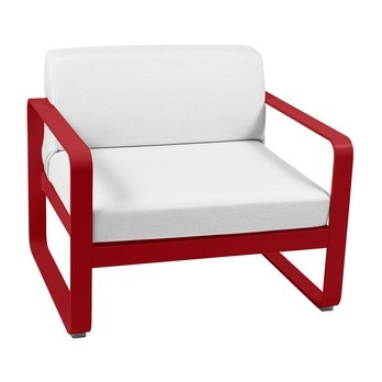 Fermob - Bellevie Outdoor Armchair - white/frame poppy/85x75x56cm