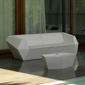 Vondom - Faz Sofa two seater - white/mat/with seat cushion